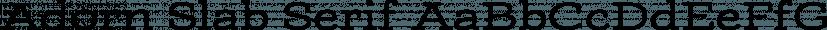 Adorn Slab Serif font family by Laura Worthington