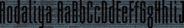 Aodaliya font family by Type Associates