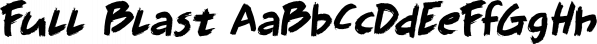 Full Blast font family by Hanoded