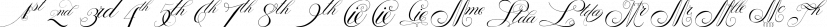 Penabico Abbreviations font family by Intellecta Design