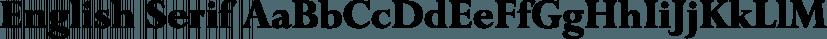 English Serif font family by FontSite Inc.