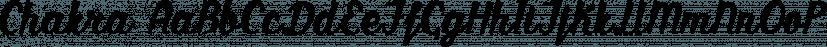 Chakra font family by Etewut