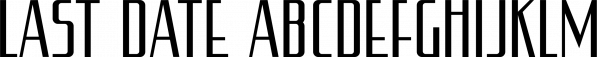 Last Date JNL font family by Jeff Levine Fonts