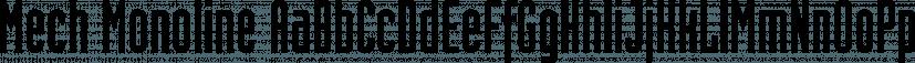 Mech Monoline font family by FontSite Inc.