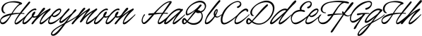 Honeymoon font family by Måns Grebäck
