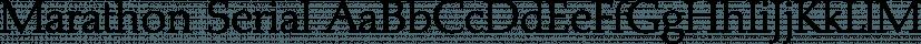 Marathon Serial font family by SoftMaker