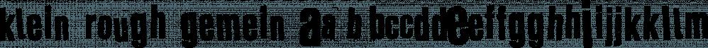 Klein Rough Gemein font family by Typo Graphic Design