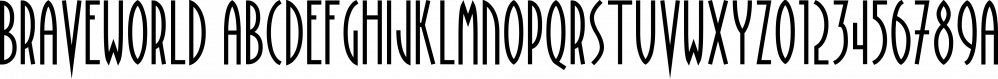 BraveWorld font family by Fonthead Design