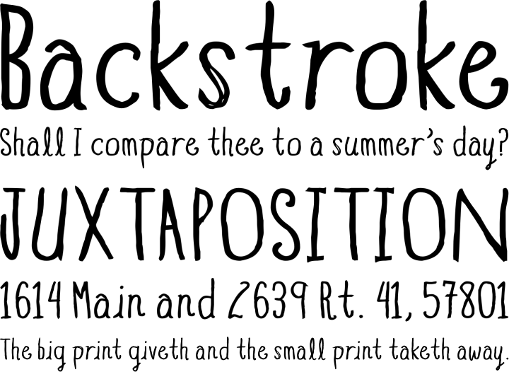 Blue Goblet Drawn Font Phrases