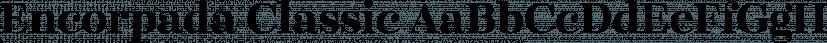 Encorpada Classic font family by dooType