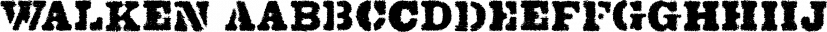 Walken font family by Typodermic Fonts Inc.