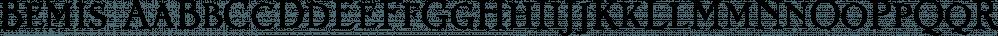Bemis font family by Leksen Design