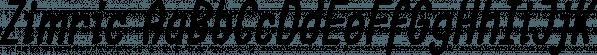 Zimric font family by Ingrimayne Type
