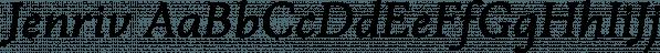 Jenriv font family by Linh Nguyen