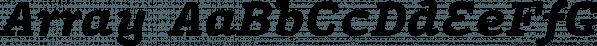 Array font family by JTD