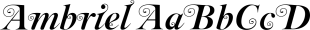Ambriel font family mini