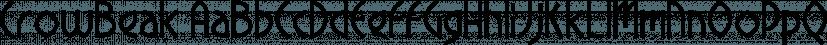 CrowBeak font family by Fonthead Design