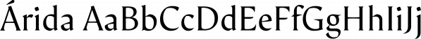 Árida font family by Latinotype