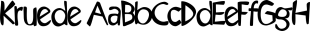 Kruede font family mini