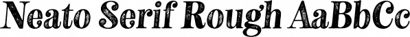 Neato Serif Rough font family by Adam Ladd