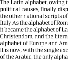 Sommet Serif 16pt paragraph