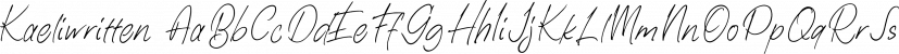 Kaeliwritten font family by Letterhend Studio