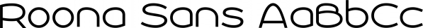 Roona Sans font family by Måns Grebäck