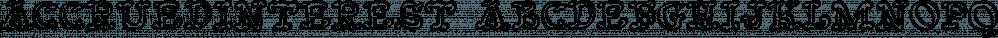 AccruedInterest font family by Ingrimayne Type