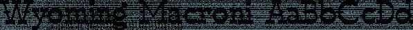 Wyoming Macroni font family by Ingrimayne Type