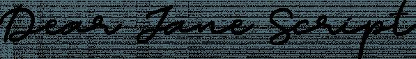 Dear Jane Script font family by Letterhend Studio
