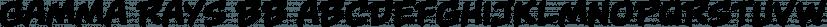 Gamma Rays BB font family by Blambot