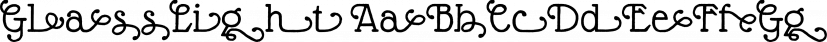 GlassLight font family by Wiescher-Design