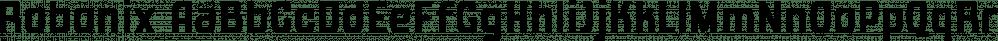 Robonix font family by Parker Creative