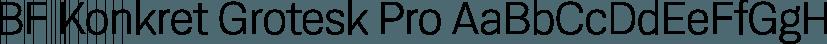 BF Konkret Grotesk Pro font family by BrassFonts