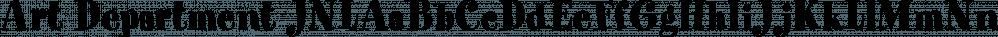 Art Department JNL font family by Jeff Levine Fonts