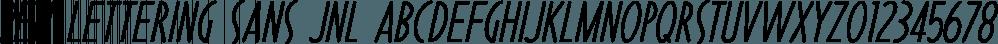 Pen Lettering Sans JNL font family by Jeff Levine Fonts