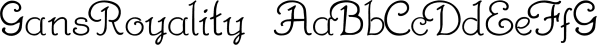 GansRoyality font family by Intellecta Design
