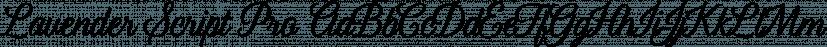 Lavender Script Pro font family by Jess Latham