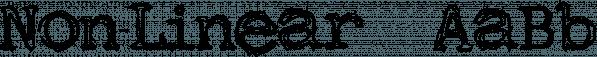Non-Linear™ font family by MINDCANDY