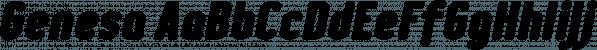 Genesa font family by Typogama