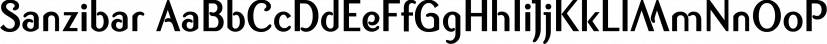 Sanzibar font family by ArtyType