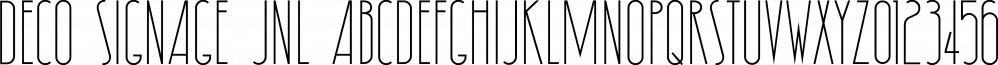 Deco Signage JNL font family by Jeff Levine Fonts
