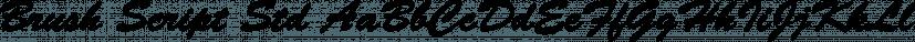 Brush Script Std font family by Adobe