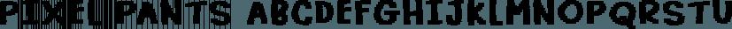 Pixel Pants font family by Pizzadude.dk