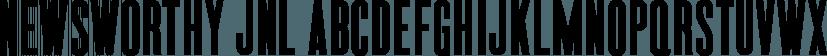 Newsworthy JNL font family by Jeff Levine Fonts