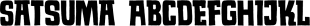 Satsuma font family mini
