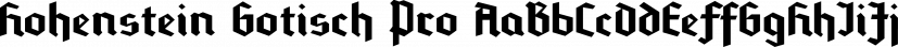 Hohenstein Gotisch Pro font family by SoftMaker