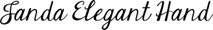 Janda Elegant Handwriting font family mini