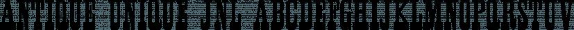 Antique Unique JNL font family by Jeff Levine Fonts