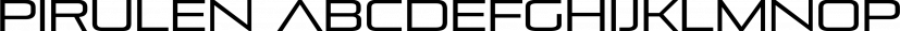 Pirulen font family by Typodermic Fonts Inc.